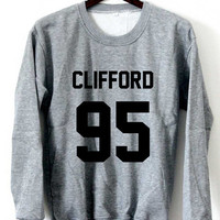 5sos Sweatshirt Michael Clifford Sweaters Clifford 95 Logo Black, White, Gray, Maroon Unisex Sweaters Tee S,M,L,XL #1