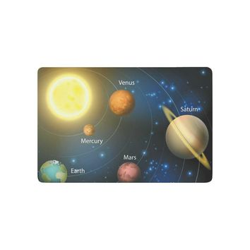 Autumn Fall welcome door mat doormat Soalr System Planets Orbiting the Sun Anti-slip  Home Decor, Universer Space Indoor Outdoor Entrance  Rubber AT_76_7