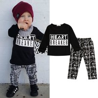 Autumn Casual Baby Boy Clothes Long Sleeve Cotton Top Shirt + Pant 2pcs Outfit Toddler Kids Clothing Set