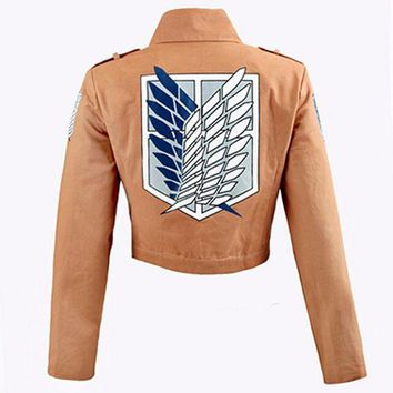 ac PEAPO2Q Attack on Titan Jacket Shingeki no Kyojin Legion Coat Cosplay Eren Levi Jacket Plus Size Free shipping Halloween Costume