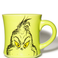 Vandor Grinch Holiday Ceramic Mug Green One