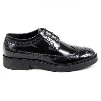 V 1969 Italia Womens Brogue Shoe B1670 ABBRASIVATO NERO