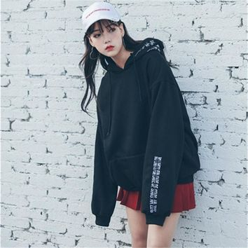 VANLED Bts Kpop Moletom Harajuku Hoodies Women Popular Korean Sweatshirt Women Sweat Shirt Femme En Coton Sudaderas Mujer 2017