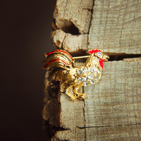 French Rooster Brooch #5363
