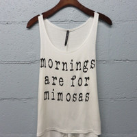 Mornings are for Mimosas Tank - Ivory