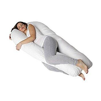 QUEEN ROSE Pregnancy Body Pillow- King Size Originally w/Premium Outer Cover, White QR-147