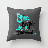 Diamonds Are A Girl's Bestfriend Throw Pillow by jlbrady213 & KBY | Society6