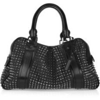 Burberry | Studded leather Knight bag | NET-A-PORTER.COM