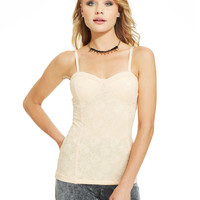Material Girl Juniors' Lace Bustier Camisole
