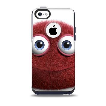The Red Fuzzy Wuzzy Skin for the iPhone 5c OtterBox Commuter Case