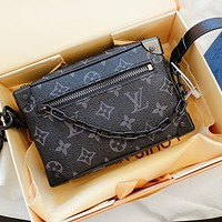 Louis Vuitton LV Classic Women Men Shopping Bag Leather Handbag Tote Crossbody Satchel Shoulder Bag
