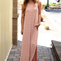 When In Doubt Maxi Dress- Blush