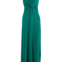Green knot twist maxi dress - Dorothy Perkins - Wearing length 142cm. 96% Viscose,4% Elastane
