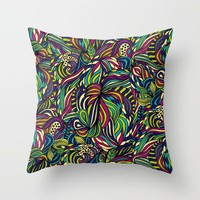 Abstract geometric waves pattern Bright colors by Maria So