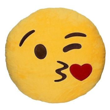 Home Couch Chair Emoji Decorative Throw Pillow Stuffed Cushion Toy Emotional Facial Expression Doll Pillow 32cm x 10cm
