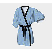 Anchor Dream Kimono Robe - Light Blue