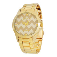 Gold Chevron Watch