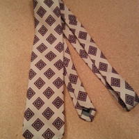 Vintage Mens Neck Tie, Silk Hand Made, FREE US Shipping