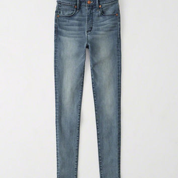 Womens High Rise Super Skinny Jeans | Womens New Arrivals | Abercrombie.com