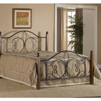 1422-milwaukee-wood-post-bed-queen-bed-frame-included - Free Shipping!