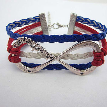 One Direction Bracelet, Infinity Wish Bracelet, Eco-friendly Personalized Charm Jewelry---Friendship Gift.