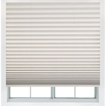 Easy Lift, 48-inch by 64-inch, Trim-at-Home (fits windows 28-inches to 48-inches wide) Cordless Pleated Shade, Light Blocking, White