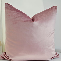 ON SALE ! Pink Velvet Pillow Cover,  Pink  Pillow Cover , Dusky Rose Pink Velvet Pillow Cover,Blush Pink Pillow Cover,Pink Pillow