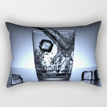 Glass of Water Rectangular Pillow by Mixed Imagery