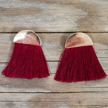 Curtain Call Fringe Earring