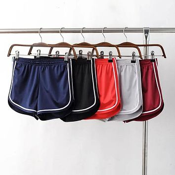 YNZZU New Women Shorts Casual satin Short Pants black red spring summer Femme Short Feminino Pantalones Cortos Mujer YB056