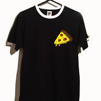pizza slice ringer tshirt 3 colours alien pizza food tumblr