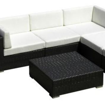 2016 All Weather Outdoor Sofa Sectional Wicker 8 Piece Resin Couch Set