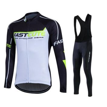 Fastcute Winter Thermal Fleece Cyclewear MTB Jersey Warm Sport Uniform Ropa Ciclismo Breathable Long Bicycle Shirts UUHL22A