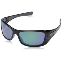 Oakley Men's Hijinx Sunglasses Black Ink Frame Jade Iridium Polarized Lenses