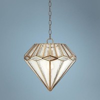"Marilyn Diamond 14"" Wide Brass Mini Pendant Light - #W3308 
