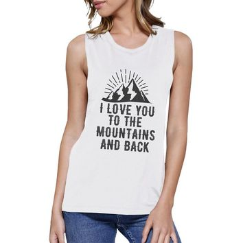 Mountain And Back White Unique Design Tank Top Gift Ideas For Teens