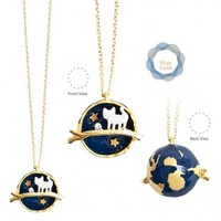 Cat Planet Necklace in Blue