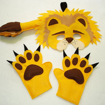 Children's Safari Animal LIONS Felt Costume Set