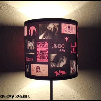 Pink Horror Lamp Shade Lampshade by SpookyShades on Etsy