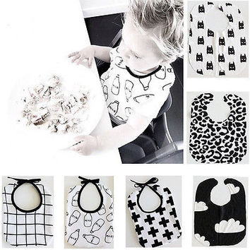 baby bibs bib Infant Baby Kids Rectangle Lunch Feeding Bibs Toddler Children Towel Scarf Waterproof