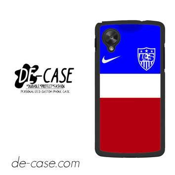 Usa Soccer Jersey For Google Nexus 5 Case Phone Case Gift Present YO
