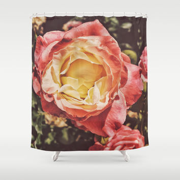 Rosey Posey Shower Curtain by DuckyB (Brandi)