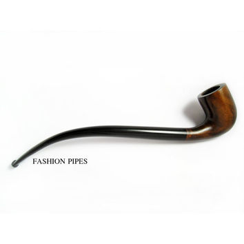 """NEW """"LORD"""" Long Smoking Pipe of Pear Wood Pipe 9.8'' Churchwarden Wooden Pipe Handcrafted. Exclusive Designed for pipe smokers"""
