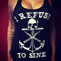 Summer 2015 Fashion Sexy Tops For Women Anchor 3D Print Skull Bodycon Top Hot Selling Woman Black Clothing Free Shipping XF102