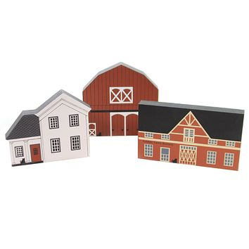 Cats Meow Village FALL SERIES SET / 3 House Mail Pouch Farm Buttery Fall Set/3