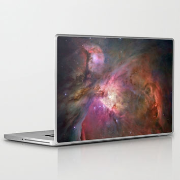 Bright nebula stars pink galaxy geeky hipster cool Nasa nebulae space photograph Laptop & iPad Skin by iGallery