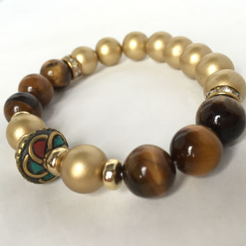 Cassidy Bead Stretch Bracelet