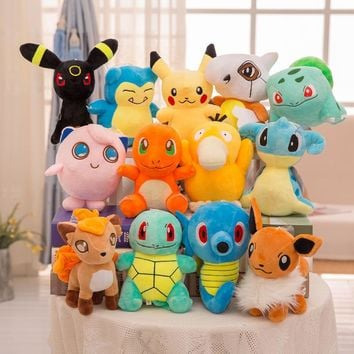Psyduck/Horsea/Cubone/Eevee/Vulpix/Umbreon/Jigglypuff Plush kids toys Pillow  Stuffed dolls for Children Gift kawaii