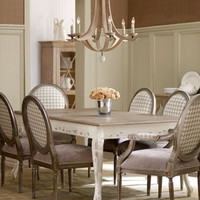 """Massoud - """"Kendall"""" Dining Table & """"Delores"""" Chairs - Horchow"""