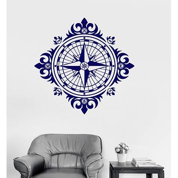 Wall Decal Wind Rose Vintage Nautical Decor Decoration Room Vinyl Stickers Unique Gift (ig3007)